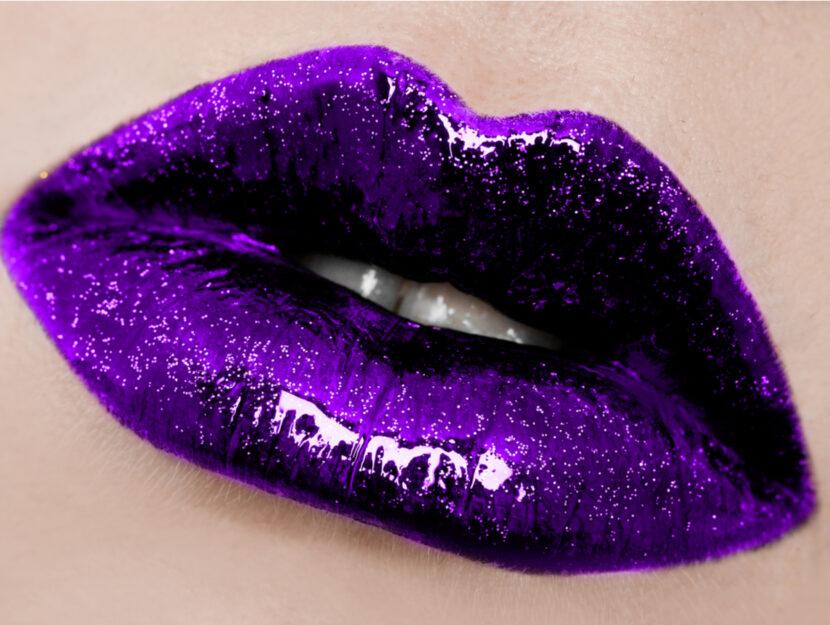 purple sparkling lipsticks
