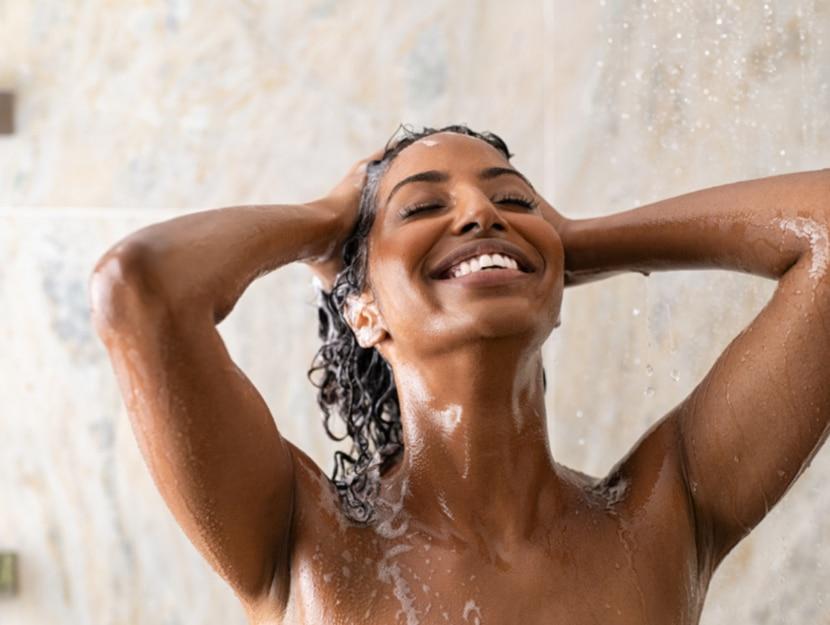 lukewarm shower to maintain the tan