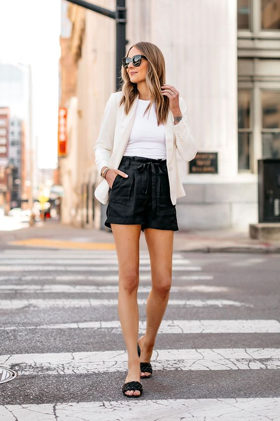 Wear leather shorts