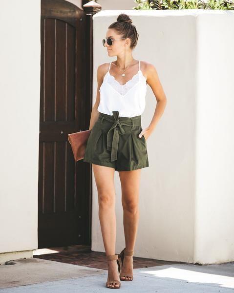 Go for high-waisted shorts