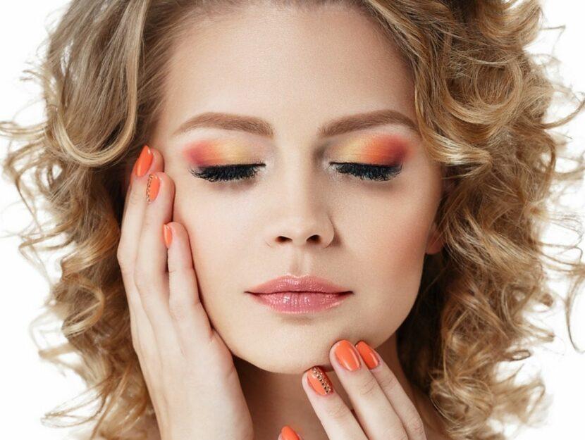 orange and yellow make-up