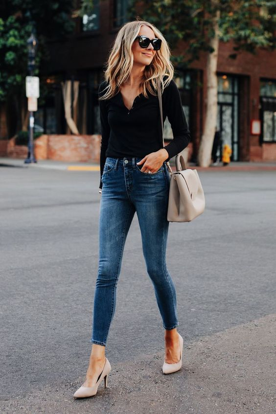 Fashion tips for wearing skinny jeans