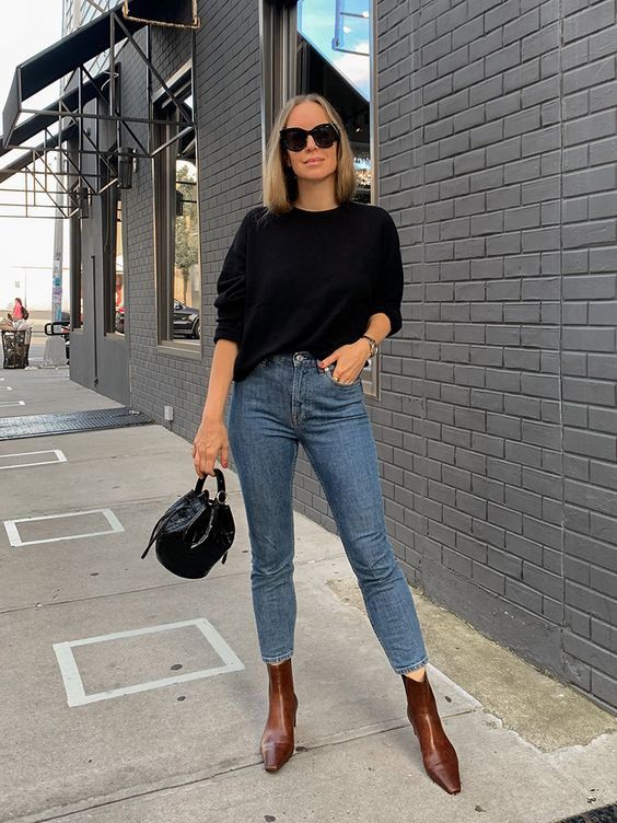 Combine skinny jeans with ankle boots