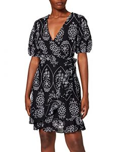 Wrap dress in broderie anglaise lace