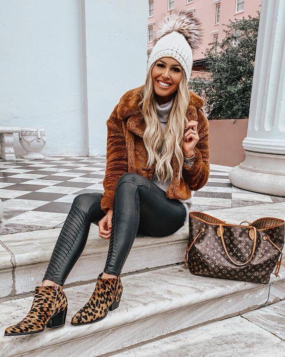 Footwear with animal print