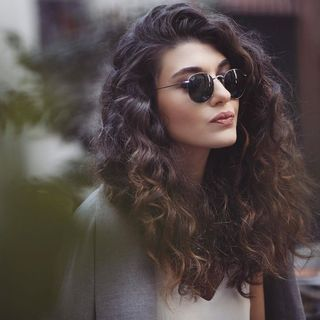 Short cut for hair with curls or curlers